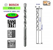 Bosch 2 PCS 6MM CYL-3 Silver Percussion Concrete Drill Bit