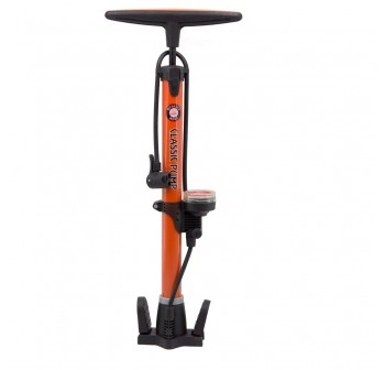 Bike Bicycle Cycling Air Pump Reinforced Aluminium Alloy Orange
