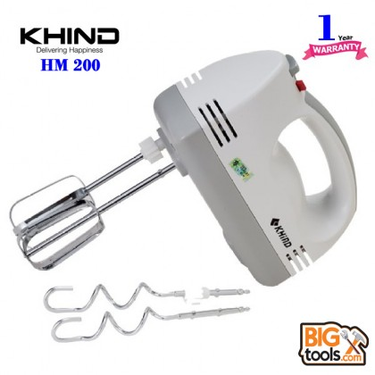 Khind HM200 Hand Mixer with 5 Variables Speed