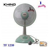Khind 12 Table Fan TF1230 High Air Delivery 3 Speed Push Button