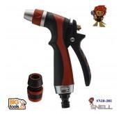 SNELL Heavy Duty Hose Nozzle Water Lever Spray Gun SN10-201 (orange)