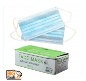 200 PCS 3 Layer Non Woven Disposable Anti-Dust Tie On Surgical Medical Face Mask