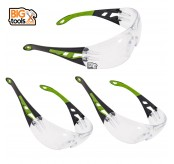 3 PCS EW166 New Safety Eye Protection PPE Glasses Goggle Spec Clear