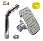 ABS 85mm Fixed Ball Joint Shower Head With 100mm Shower Arm And Seal Tape