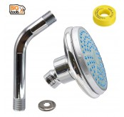 ABS 100mm Fixed Ball Joint Shower Head With 100mm Shower Arm And Seal Tape