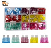 110pcs 6 Sizes Mini Car Blade Fuses Set