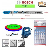Bosch 5 PCS  T118A T-Shank Jig Saw Blade for Metal (5pcs/pack)