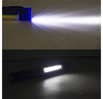 4 pcs Multi Colour Mini LED COB Pen Clip Light Magnetic Torch Flashlight