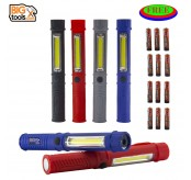 4 pcs Multi Colour Mini LED COB Pen Clip Light Magnetic Torch Flashlight