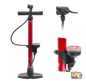 Cycling Bicycle Bike Hand Pump with Pressure Gauge Presta Schrader