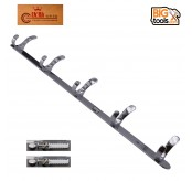 Stainless Steel Strong Clothes Towel Robe Holder Rack Kitchen Wall Mounted Hanger 5 Hooks