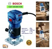 "Bosch GKF 550 Palm Router And Trimmer 1/4"" 6MM 550W"