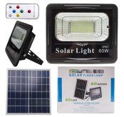 Solar Panel Spotlight 60W Garden Light Outdoor Long Work Time 60W Solar LED Flood Light