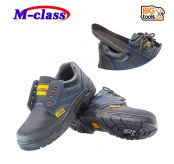 M-Class Black Blue Steel Toe Cap Mid Sole Low Cut Safety Shoes