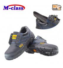 M-Class Black Blue Steel Toe Cap Mid Sole Low Cut Safety Shoes