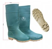GREEN HIGH CUT WATERPROOF SAFETY RUBBER RAIN BOOTS SHOE