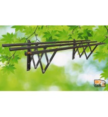 200CM 3 BAR 60KG WALL MOUNTED STAINLESS STEEL RETRACTABLE DRYING RACK CLOTH HANGER