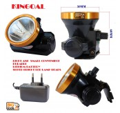 KINGOAL  50MM 30W KG-032 LED Rechargeable & Adjustable Head Lamp [50 Meters Shooting Distance] - Daylight