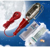 BIGTOOL 240V+9W LED BULB Portable Work Light Work Lamp w/ Hanging Hook,Garage, Car Repair Lighting