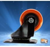 4pcs Bigtool 40mm 80kg PVC Orange Swivel Castor Wheels Trolley Caster Furniture Casters