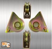 2pcs 70mm W/ Bracket V Type Wheel Track Railliding Gate Roller Steel