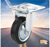 2 Pcs  80mm  50kg Swivel Black Rubber Wheel Caster for Trolley Furniture