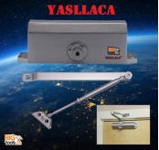 YASLLACA YLS-062  Heavy Duty Adjustable Automatic Door Closer Auto Close With Speed Control (SILVER)