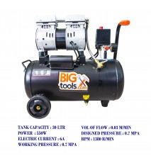 BIGTOOL 550W OILLESS 30LTR AIR COMPRESSOR