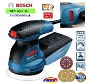 BOSCH GEX 125-1AE Random Orbit Sander / Polisher +3 pcs Sanding Disc (1 Year warranty)