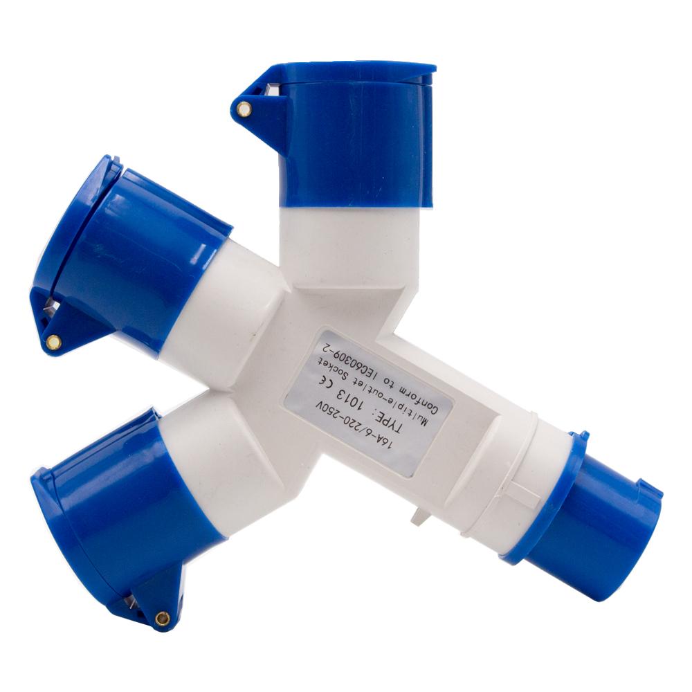 3 Way 16A AMP Plug 3 Pin 240V Waterproof Industrial Electrical ...