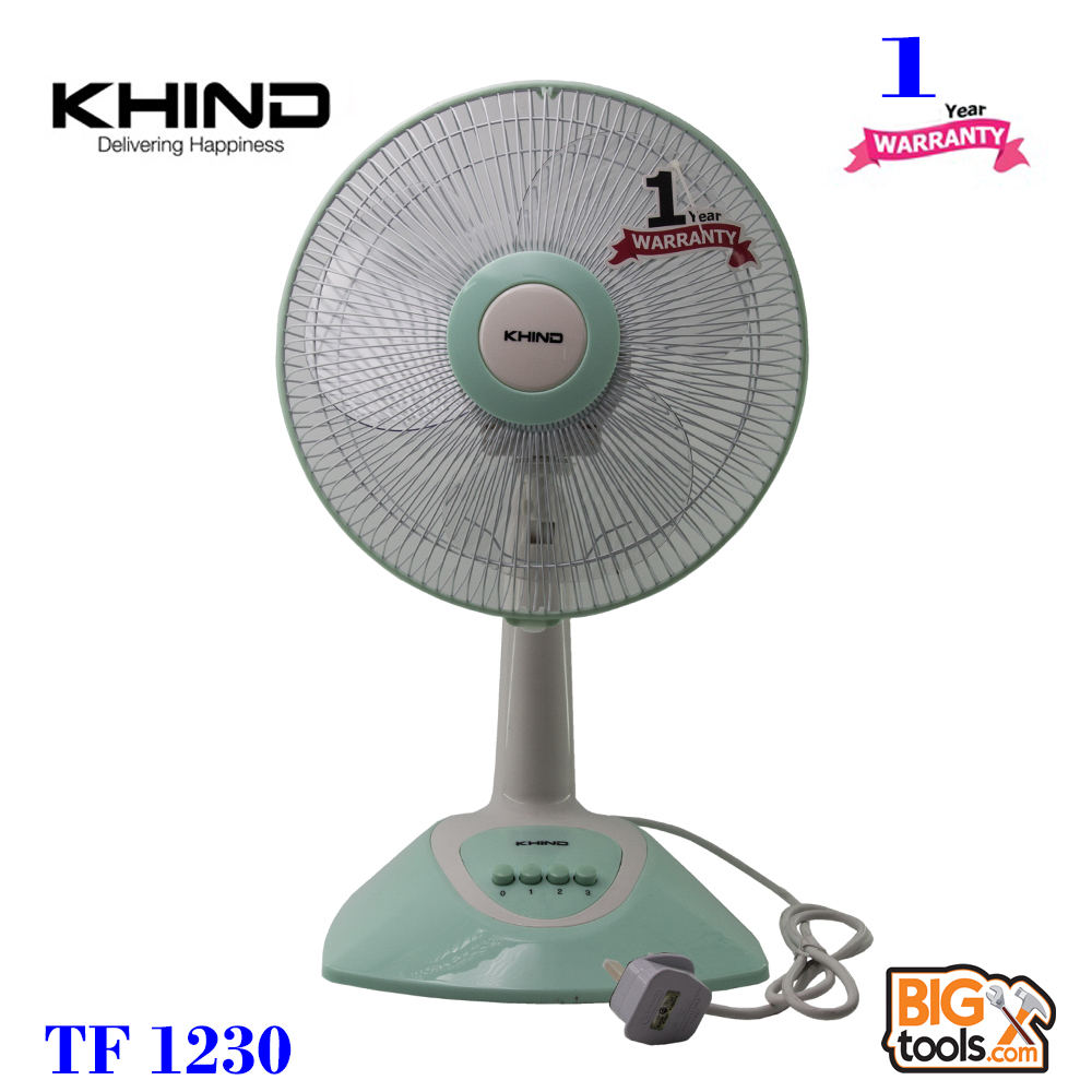 Khind 12 Table Fan TF1230 High Air Delivery 3 Speed Push Button""